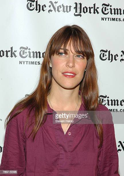Indie rock musician Leslie Feist attends the New York Times Arts Leisure Week at the Times Center on January 12 2008 in New York City Feist's was the...