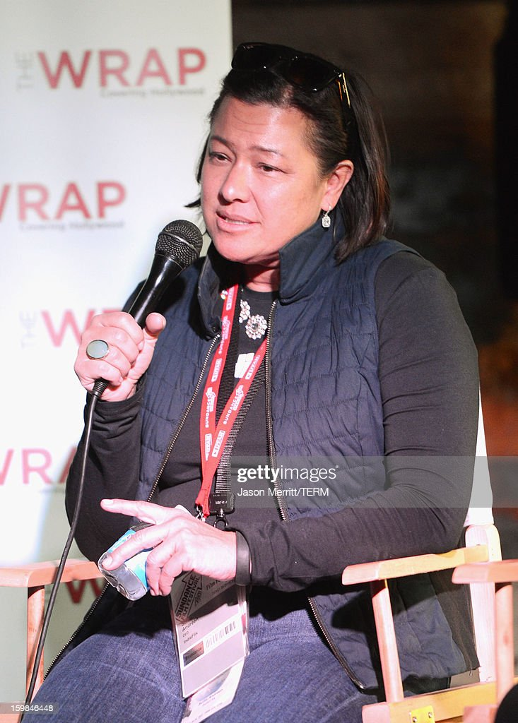 IndieFlix co-founder and CEO Scilla Andreen speaks during UCLA and The Wrap Sundance 2013 Panel at The Claim Jumper on January 21, 2013 in Park City, Utah.