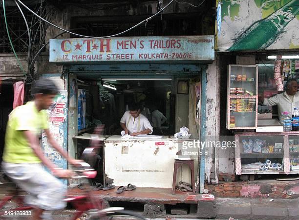 Indien Westbengalen Kalkutta Ansicht einer Schneiderei