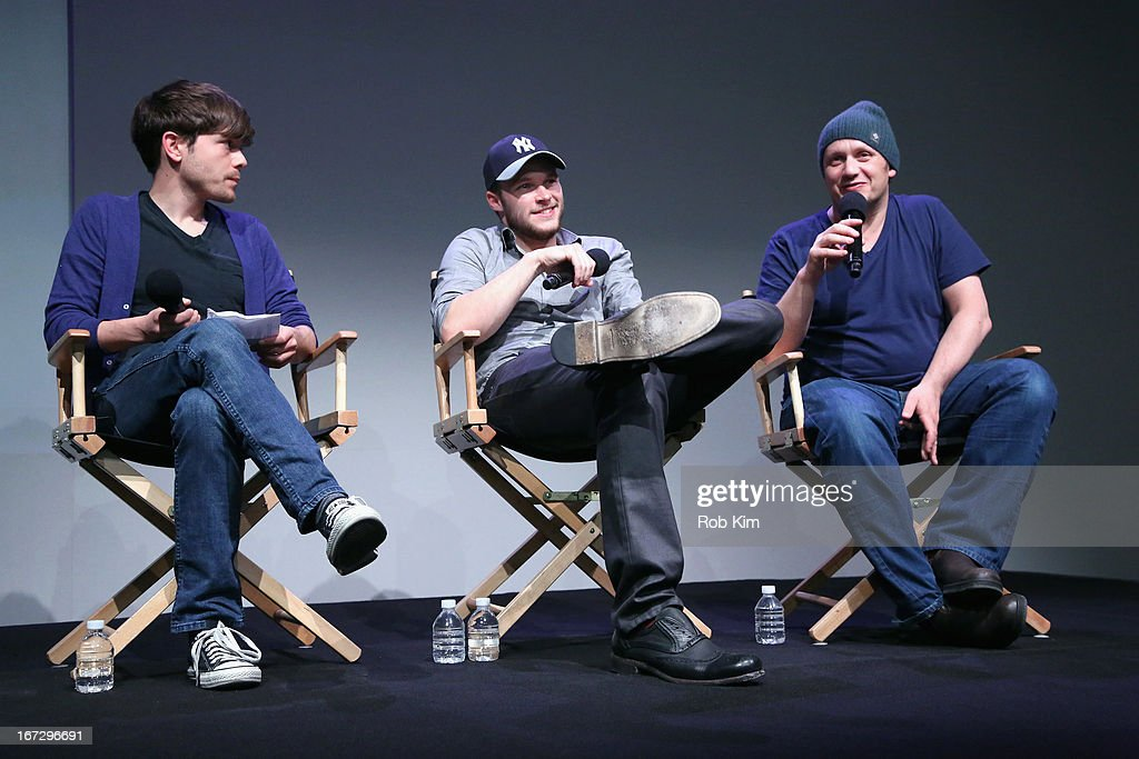 Indiewire senior editor Peter Knegt, actor Jack Reynor and director Lenny Abrahamson attend Meet the Filmmaker: 'What Richard Did' during the 2013 Tribeca Film Festival at the Apple Store Soho on April 23, 2013 in New York City.