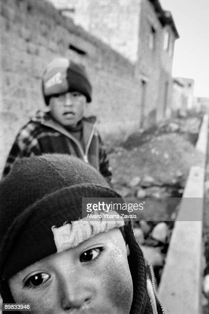 Indigenous children seen during the December 2005 presidential elections The eventual winner was Evo Morales the country's first fullyindigenous head...