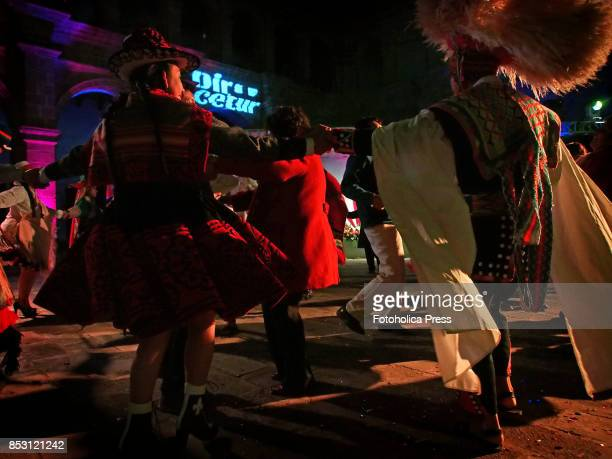 Indigenous dancers from Cusco performing at the launching of Tourism Month 2017 in Cusco organized by the Regional Direction of Foreign Trade and...