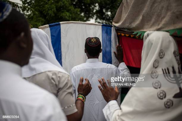 Indigenous People of Biafra militants and members of the Yahveh Yashua Synagogue celebrate Shabbat outside the house of the movements leader Nnamdi...