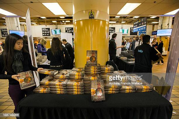 Indigo celebrates the release of the latest Robert Langdon novel from Dan Brown Inferno with a popup shop at Union Station GO concourse in Toronto