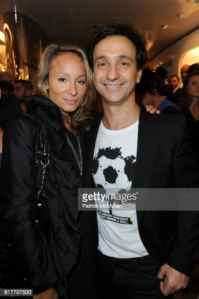Indira Cesarine and Carlos Miele attend Carlos Miele and Vogue Italia Celebrate Limited Edition of TShirts Designed by Lapo Elkann and Bianca...