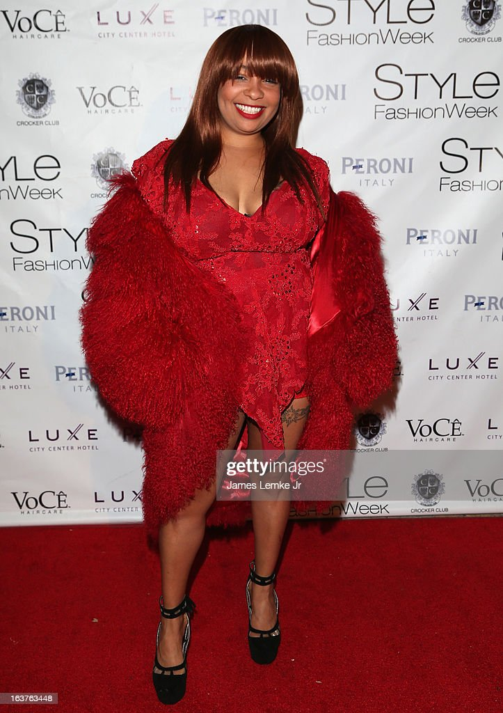 Indira Con attends the 2013 Los Angeles Fashion Week - Go Red For Women Red Dress Fashion Show held at the Vibiana on March 14, 2013 in Los Angeles, California.