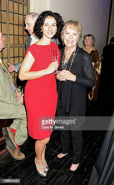 Indira Varma and Penelope Wilton attend the Almeida Theatre Fundraising Gala 2012 at One Mayfair on February 23 2012 in London England