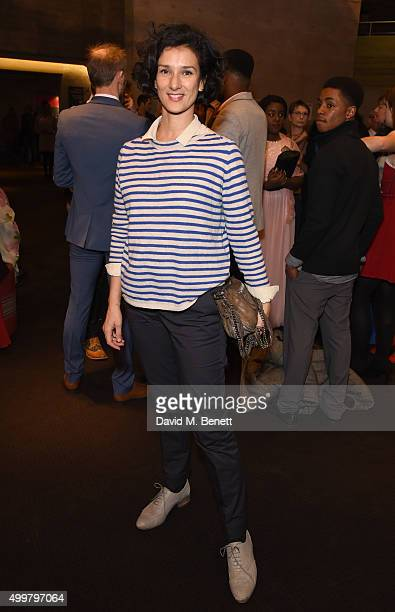 Indira Varma attends a Gala Performance of 'wonderland' in aid of NT Connections at The National Theatre on December 3 2015 in London England