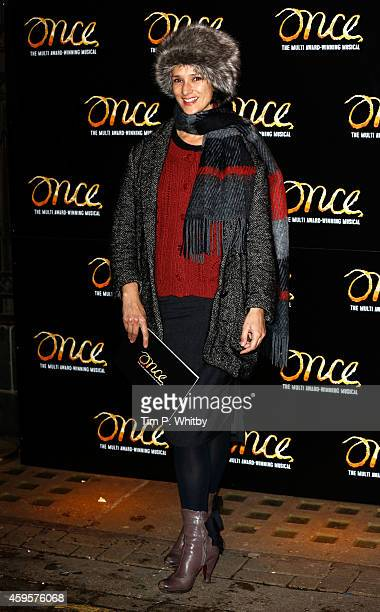 Indira Varma attends the press night of 'Once' as Ronan Keating joins the cast at Phoenix Theatre on November 25 2014 in London England