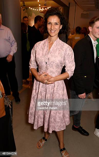 Indira Varma attends the press night performance of 'The Car Man' at Sadler's Wells Theatre on July 19 2015 in London England