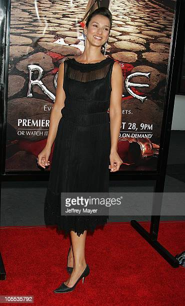 Indira Varma during HBO's 'Rome' Los Angeles Premiere Arrivals at Wadsworth Theater in Westwood California United States