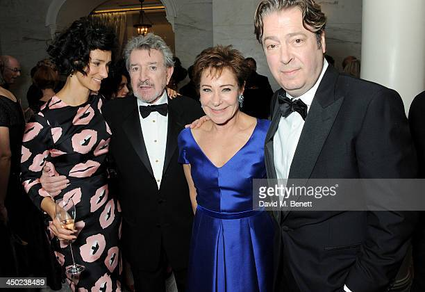 Indira Varma Gawn Grainger Zoe Wanamaker and Roger Allam attend a drinks reception at the 59th London Evening Standard Theatre Awards at The Savoy...