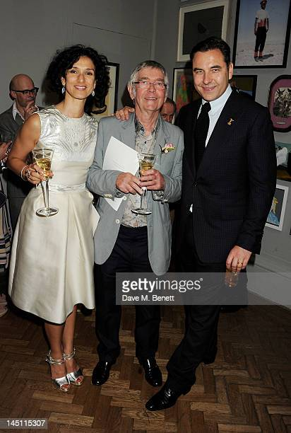 Indira Varma Tom Courtenay and David Walliams attend 'A Celebration Of The Arts' at Royal Academy of Arts on May 23 2012 in London England