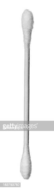 Individual double ended white cotton swab