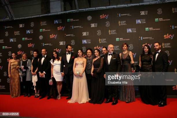'Indivisibili' Cast members walk the red carpet of the 61 David Di Donatello on March 27 2017 in Rome Italy