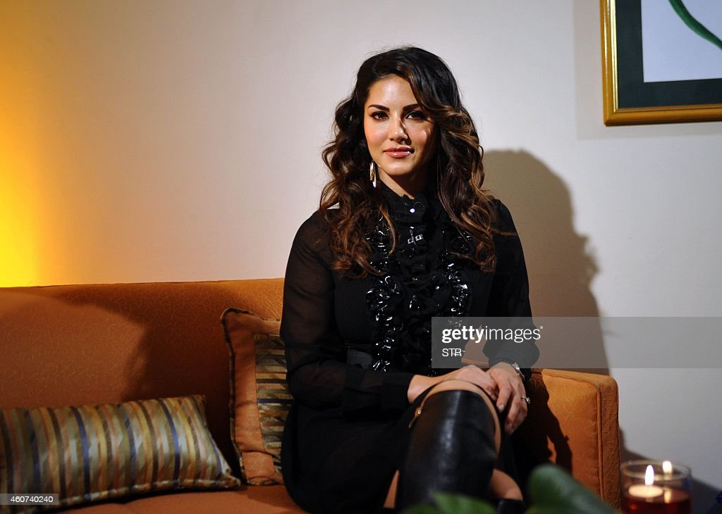 Indo-Canadian actress <a gi-track='captionPersonalityLinkClicked' href=/galleries/search?phrase=Sunny+Leone&family=editorial&specificpeople=4105641 ng-click='$event.stopPropagation()'>Sunny Leone</a> poses during the grand finale of the AdictionDeo Contest in Mumbai on December 20, 2014.
