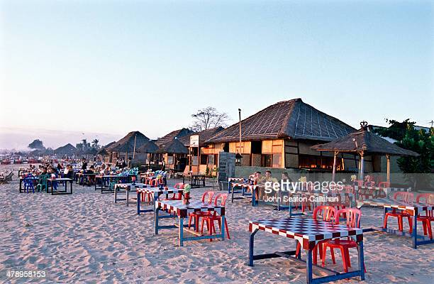 Indonesia Bali Jimbaran Bay beachfront seafood restaurants