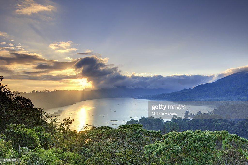 Indonesia, Bali, Mountain and Lakes : Stock Photo