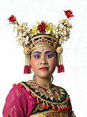 Indonesia, Bali, Ubud, female traditional dancer, portrait