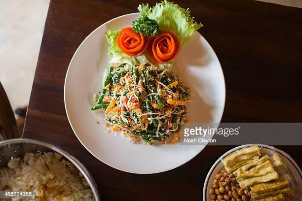 Indonesia, Bali, Ubud, Fresh salad on plate