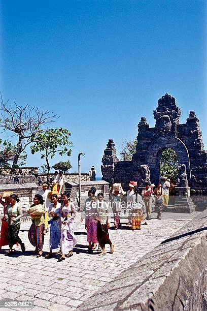 Indonesia Bali Uluwatu temple religious procession