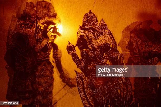 Indonesia, Bali, Wayang Kulit shadow puppets, close-up