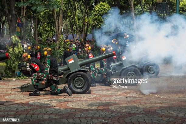 Indonesia celebrate it 72nd Independence day at Indonesian Palace in Merdeka Street Outside the palace the celebration held by canon fire that fired...