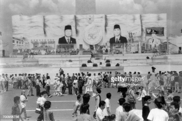 Indonesia celebrates the 50th anniversary of the independence on August 17 1995 in Jakarta Indonesia