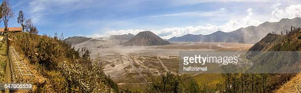 Indonesia, East Java, Malang, Panoramic view of Bromo Tengger National Park