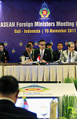 DUA Indonesia Indonesian Foreign Minister Marty Natalegawa speaks during a meeting of foreign ministers from the Association of Southeast Asian...
