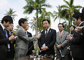 DUA Indonesia Japanese Prime Minister Yoshihiko Noda speaks to reporters in Nusa Dua in Bali Indonesia on Nov 18 2011 He was attending meetings of...