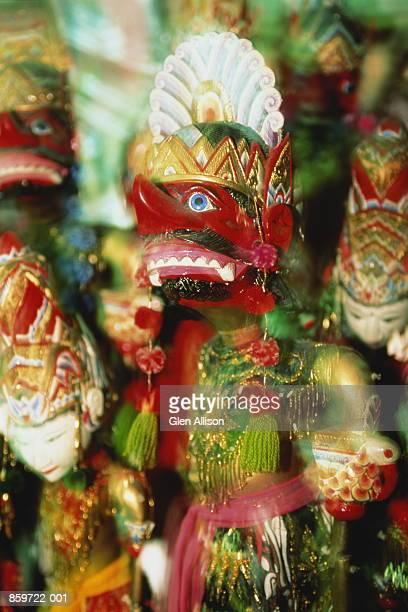 Indonesia, Java, Yogyakarta, wooden puppets (Wayang Golek)