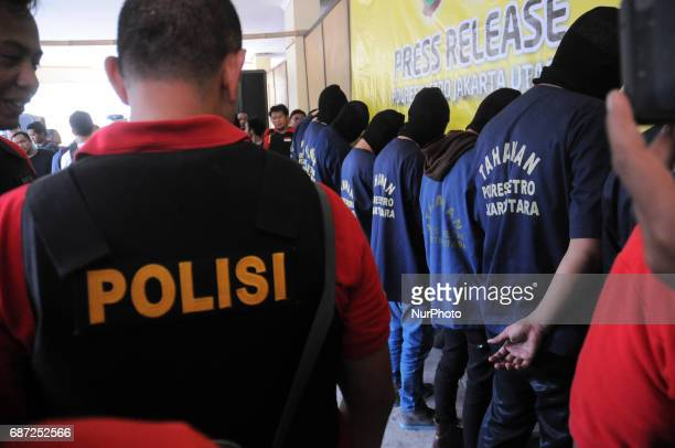 Indonesia Police showing evidence of Atlantis Jaya Company held a gay prostitution of 'The Wild One' and 141 people suspected of gay prostitution in...