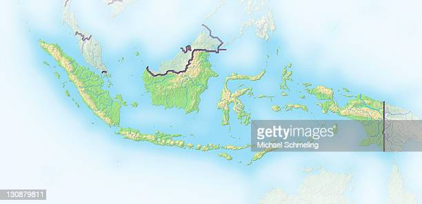 Indonesia, shaded relief map