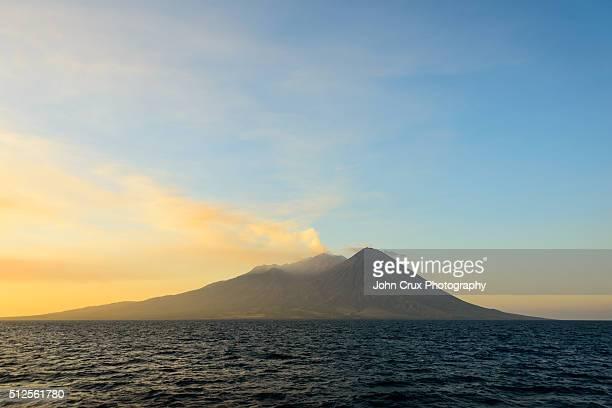 Indonesia Volcanic island