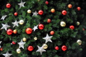 IndonesiaChristmaslifestyleFOCUS By Shirley WIBISONO This picture taken on December 22 2011 shows ornaments on a Christmas tree at a mall in Jakarta...