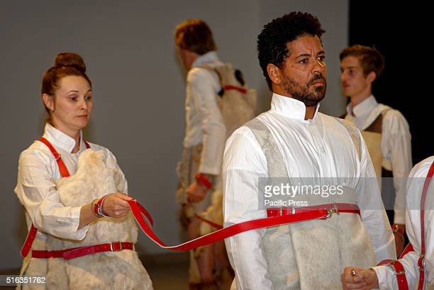 ISLAND SYDNEY NSW AUSTRALIA Indonesian artist Mella Jaarsma's 'Dogwalk' performed at the Art Gallery of New South Wales Embassy of Spirits during the...