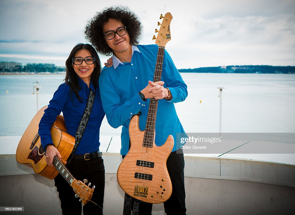 Indonesian Band 'Endha En Rhesa' pose during the photocall of 47th Midem at Palais des Festivals on January 28, 2013 in Cannes, France.