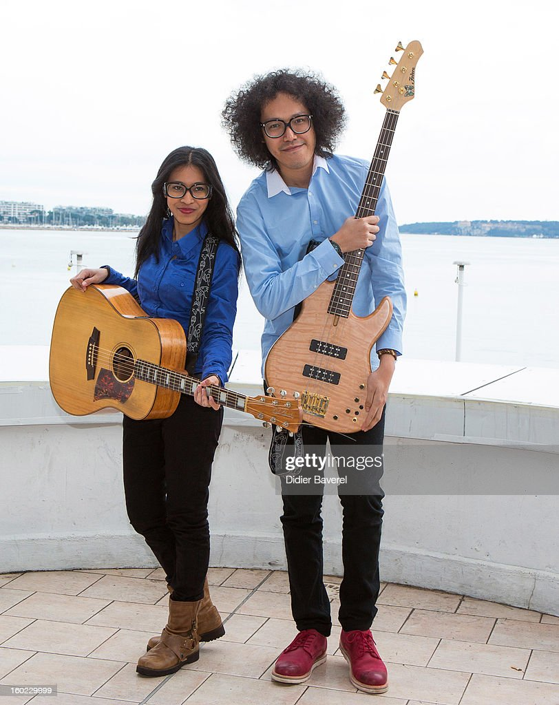 Indonesian Band 'Endha En Rhesa' poses during the photocall of 47th Midem at Palais des Festivals on January 28, 2013 in Cannes, France.
