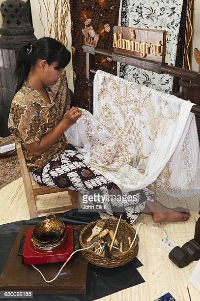 Indonesian batik artisan