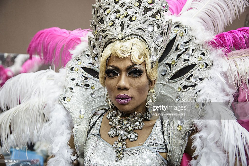 Indonesian drag queen Renata poses before a special performance on the 5th anniversary celebrations of Bali Joe Bar one of the most famous gay bars...