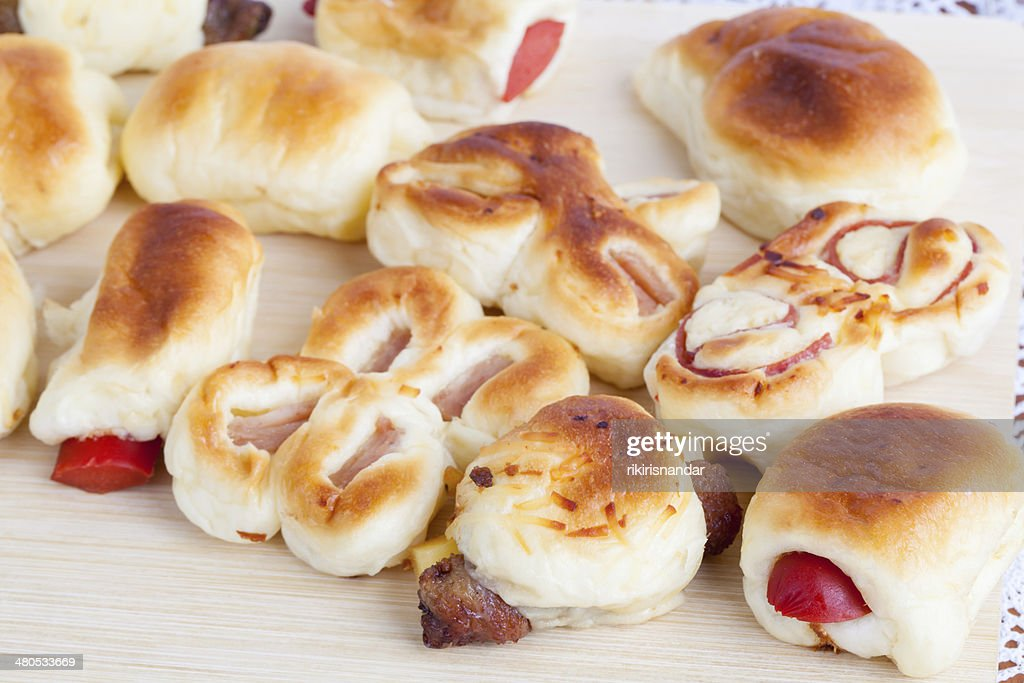 Indonesian Food Roti Unyil Small Bread : Stockfoto