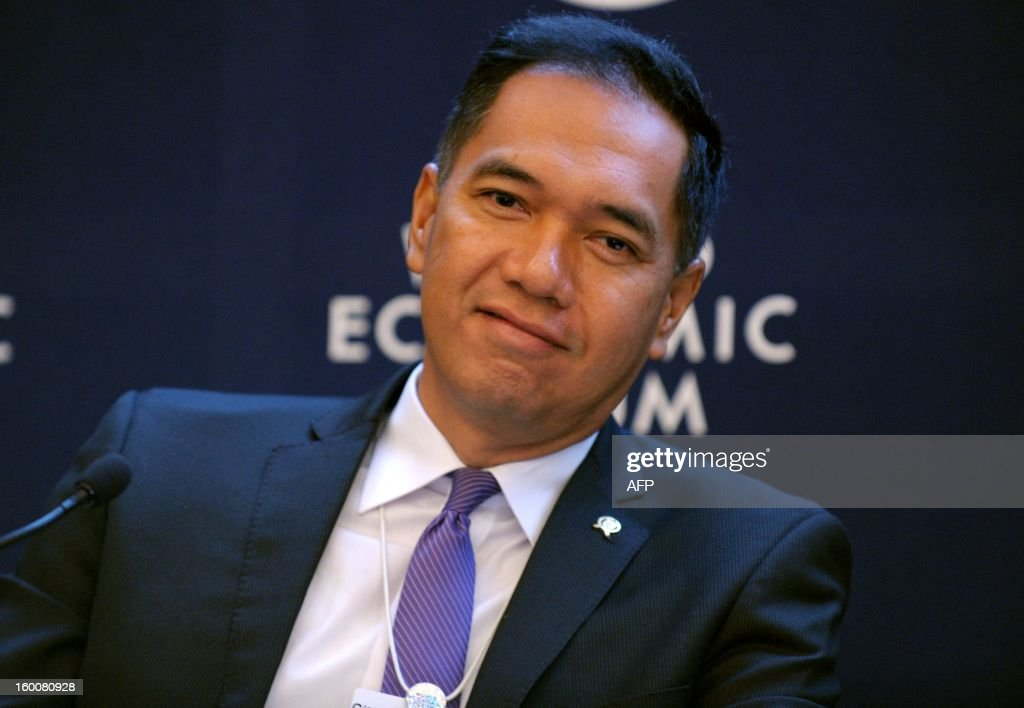 Indonesian Minister for Trade Gita Wirjawan attends a session at the World Economic Forum in Davos on January 26, 2013.