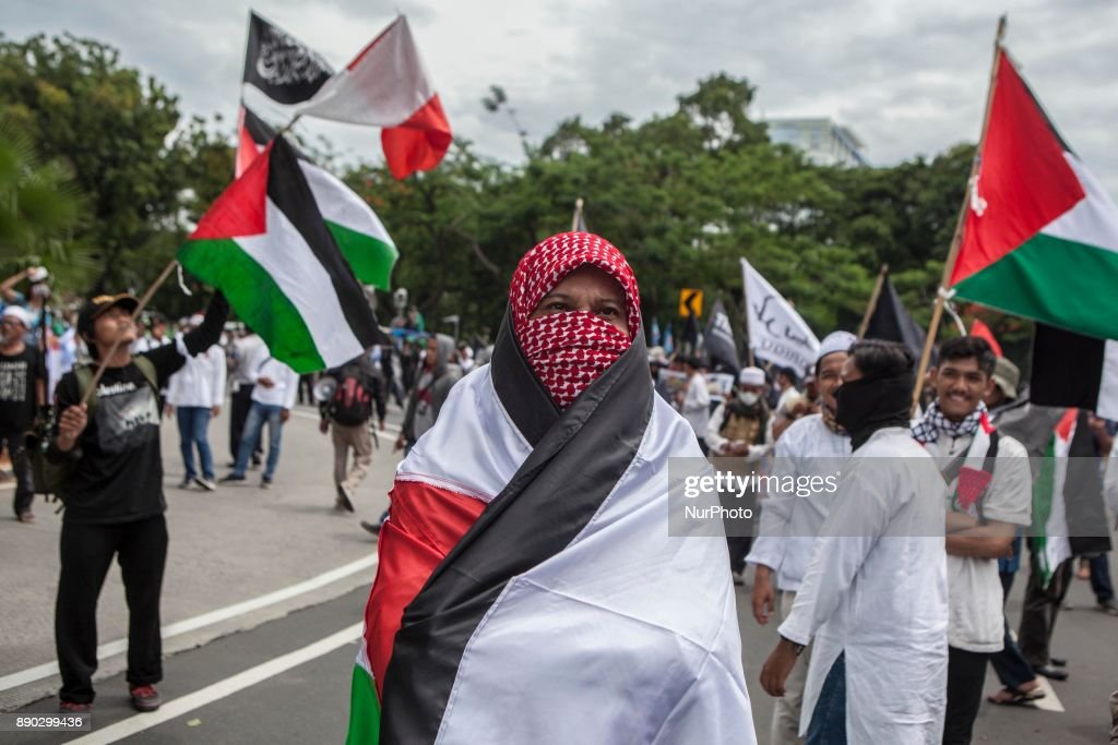 Protest in Jakarta against Trump's decision to recognize Jerusalem as the capital of Israel