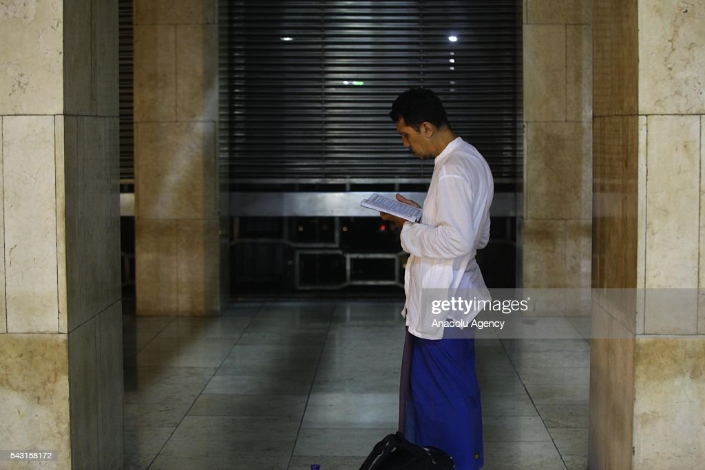 Indonesian Muslims are seen at the Istiqlal Mosque, for Itikaf which is a spiritual practice, held during the last ten days of Islamic fasting month of Ramadan in Jakarta, Indonesia on June 26, 2016. Itikaf devotees spend ten days and nights to worship in the mosque until the end of Ramadan, devoting their time to read the holy Quran and pray to mark Shab-e-Qadr (Night of Destiny).