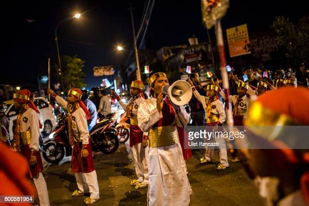 Indonesian Muslims parade on the streets as Muslims celebrate Eid AlFitr on June 24 2017 in Yogyakarta Indonesia Eid AlFitr marks the end of Ramadan...