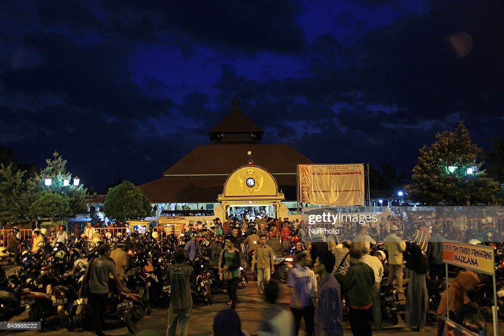Indonesian Muslims walked out from the Kauman Great Mosque, Yogyakarta, Indonesia on June 30, 2016. The Islamic holy month of Ramadan is celebrated by Muslims around the world marked by fasting, abstaining from food, sex and smoking from dawn to dusk.