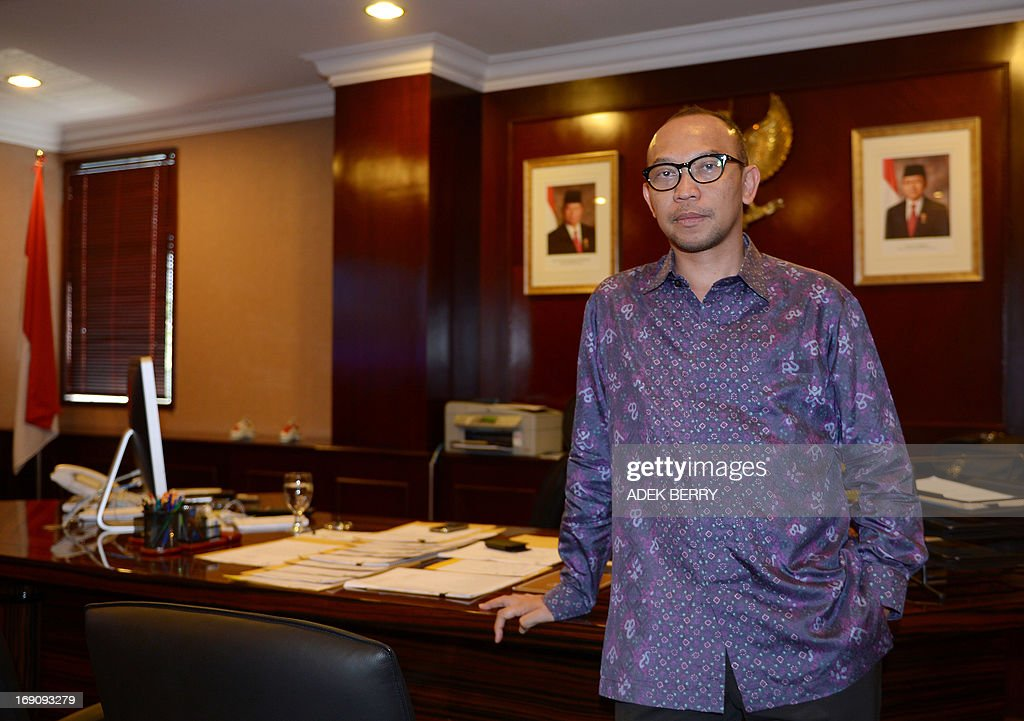 Indonesian newly appointed Finance Minister Chatib Basri, currently head of Indonesia's Investment Coordinating Board (BKPM), poses for a photograph at his office in Jakarta on May 20, 2013. President Susilo Bambang Yudhoyono on May 20 named Chatib Basri as the new finance minister, putting the country's investment chief in charge of Southeast Asia's top economy at a time of major challenges.