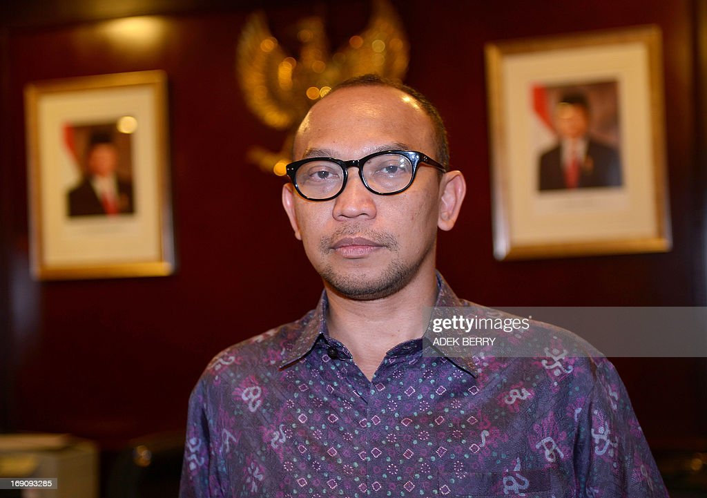 Indonesian newly appointed Finance Minister Chatib Basri, currently head of Indonesia's Investment Coordinating Board (BKPM), poses for a photograph at his office in Jakarta on May 20, 2013. President Susilo Bambang Yudhoyono on May 20 named Chatib Basri as the new finance minister, putting the country's investment chief in charge of Southeast Asia's top economy at a time of major challenges. AFP PHOTO / ADEK BERRY