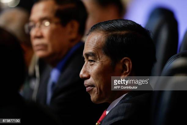 Indonesian President Joko Widodo looks on during the ASEAN Canada 40th Anniversary Commemorative Summit on the sideline of the 31st Association of...